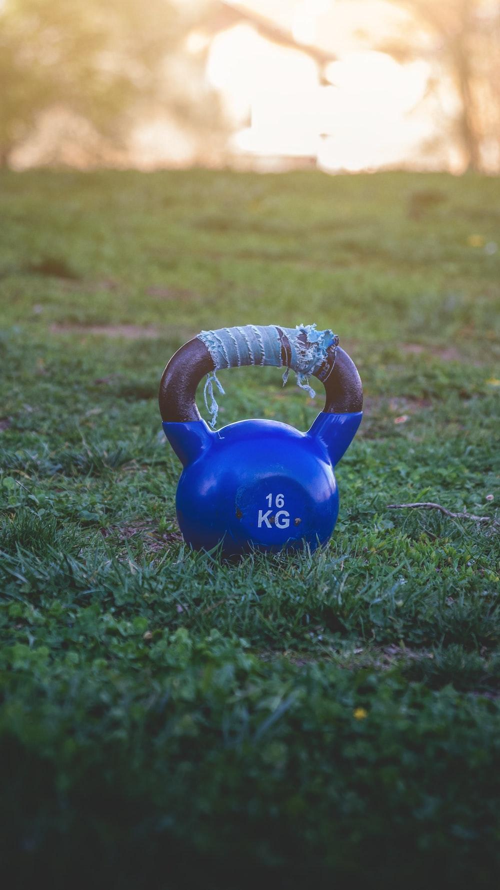 16 kg kettlebell on grass