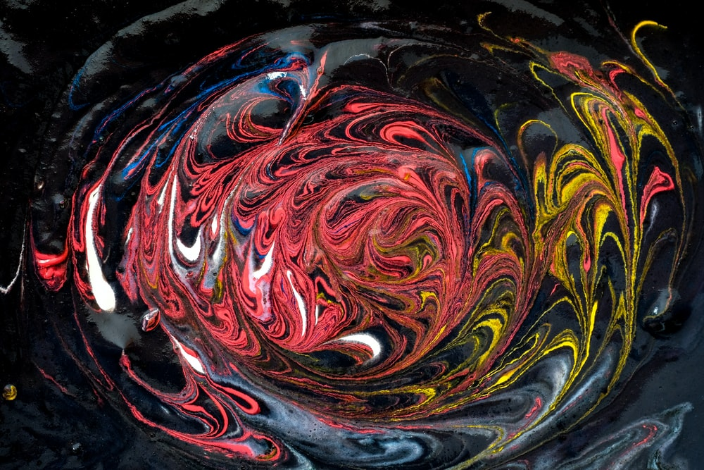 multicolored water paint art