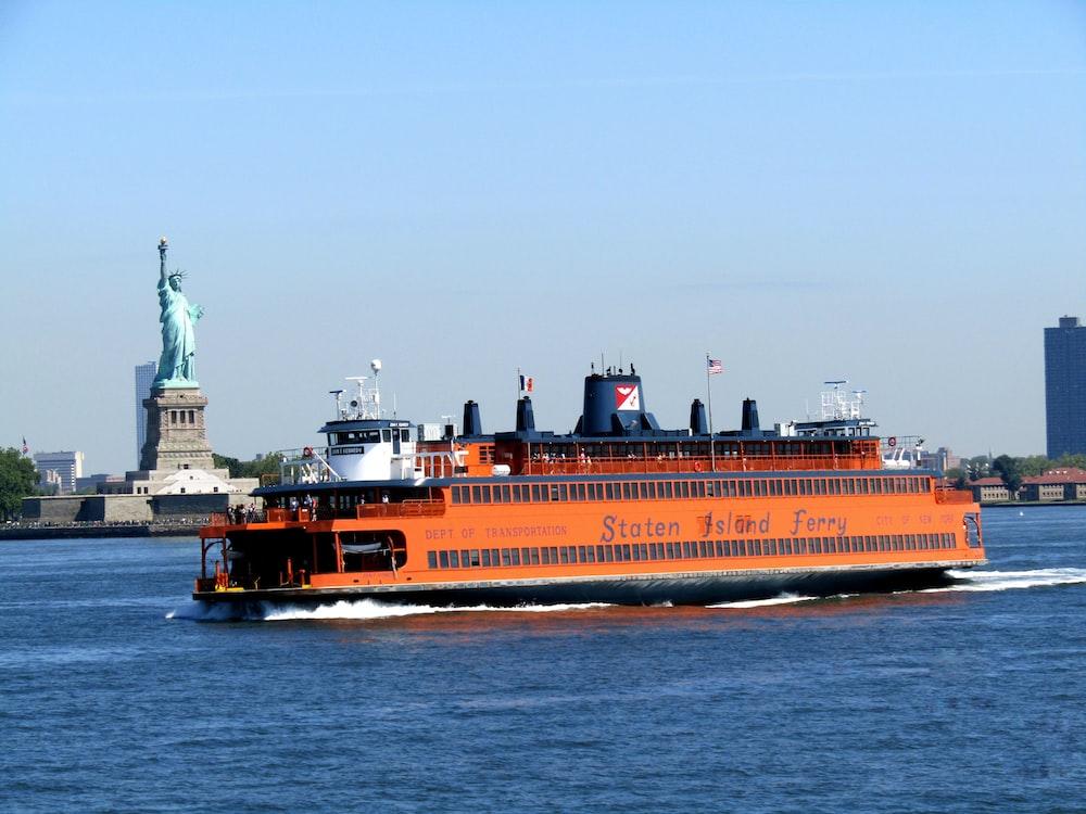 orange cruise ship