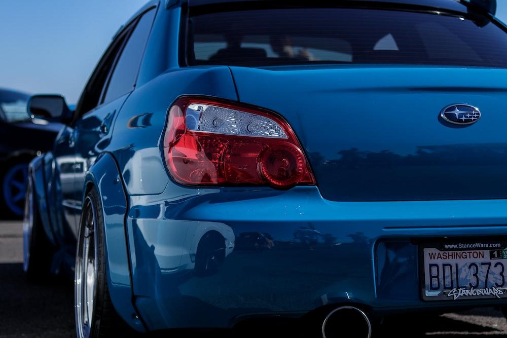 blue Subaru car