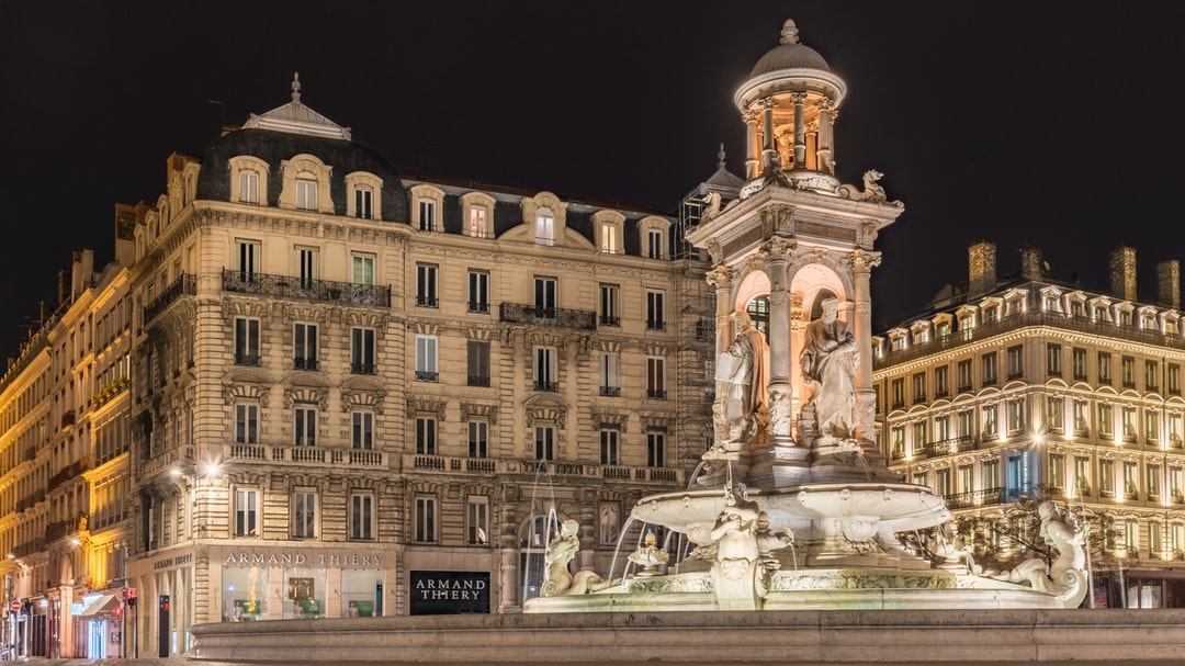 The famous Jacobins fountain in Lyon