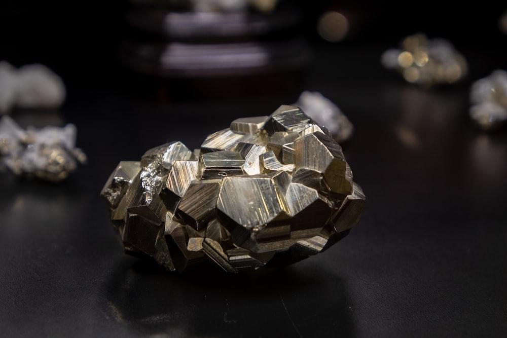 black and gray stone