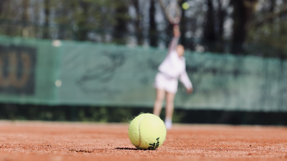 green lawn tennis ball on ground video content