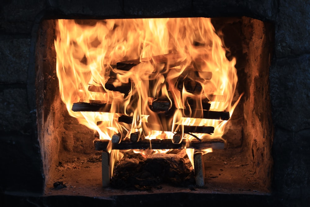 close-up photo of burned firewood