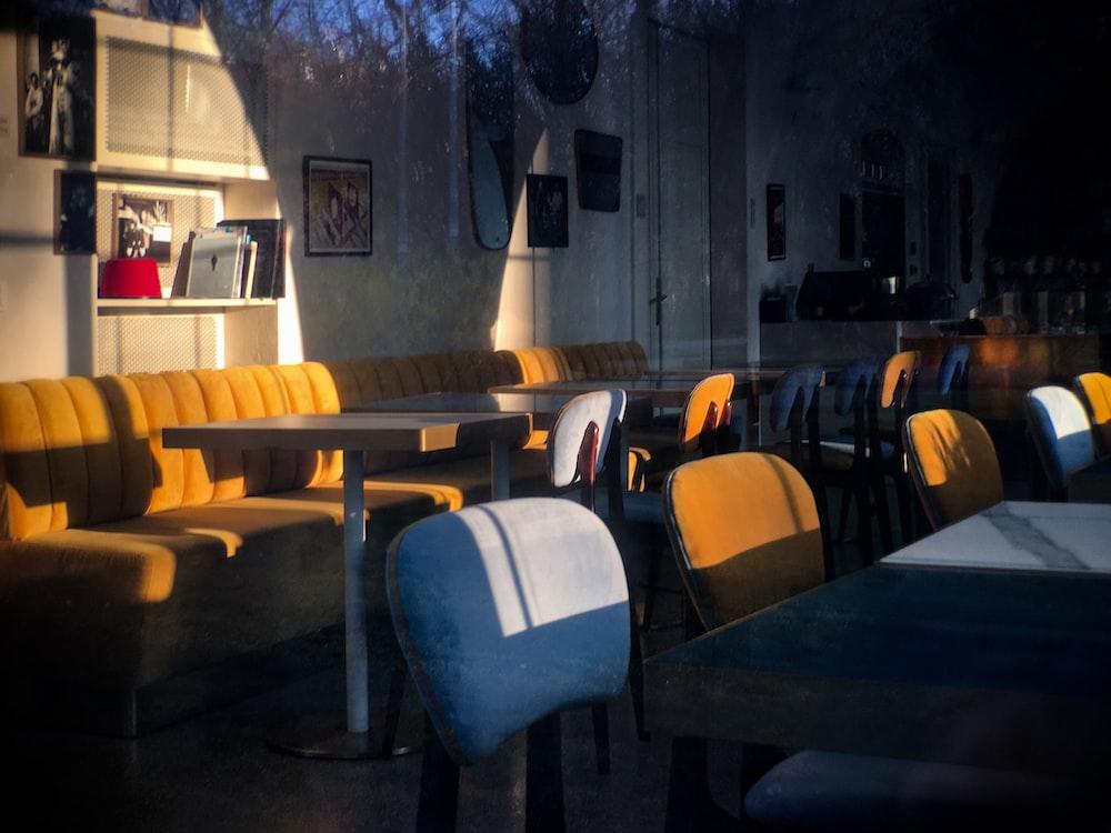 assorted tables between seats