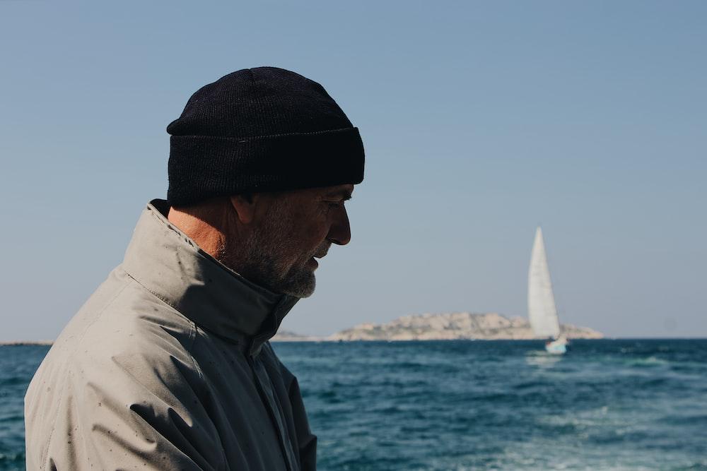 man near body of water
