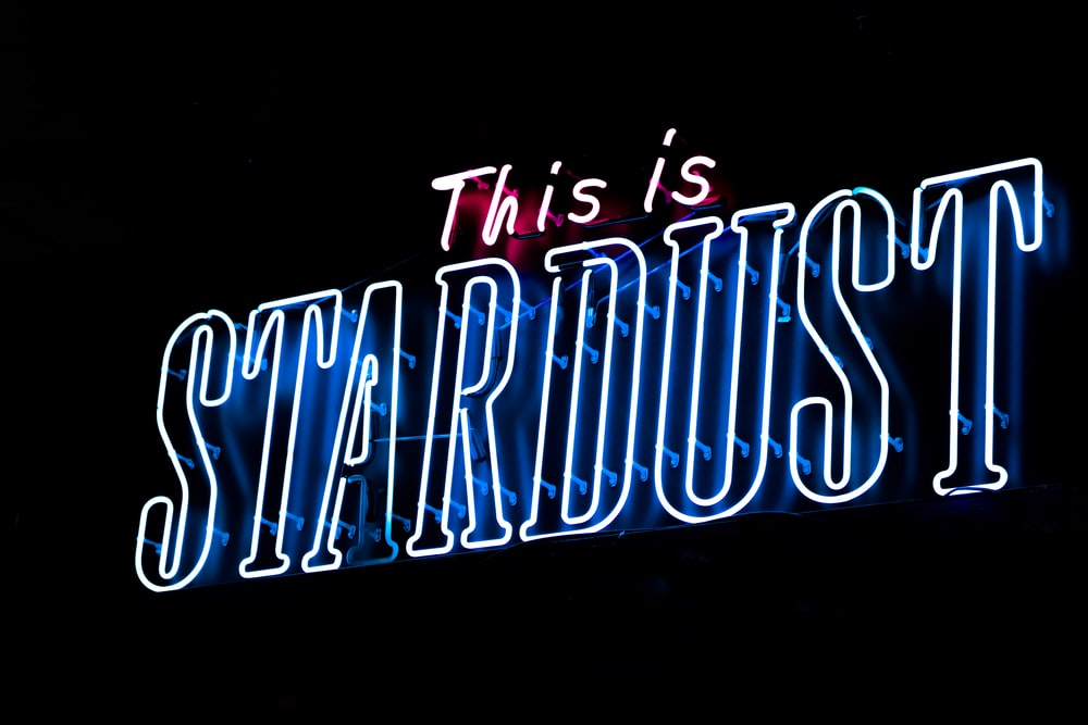 This Is Stardust LED signage