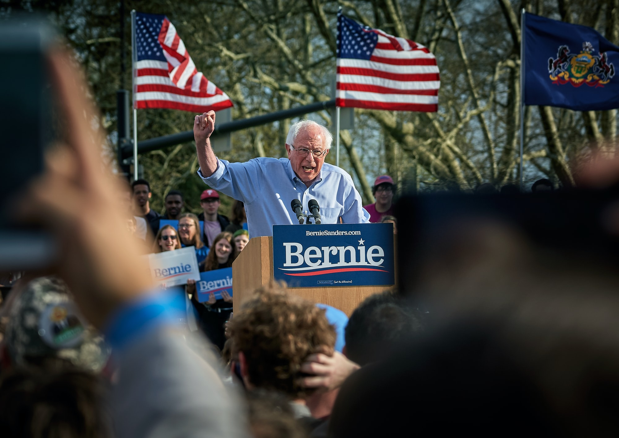 Bernie Sanders, Rally at Pittsburgh University, Sunday April 14.