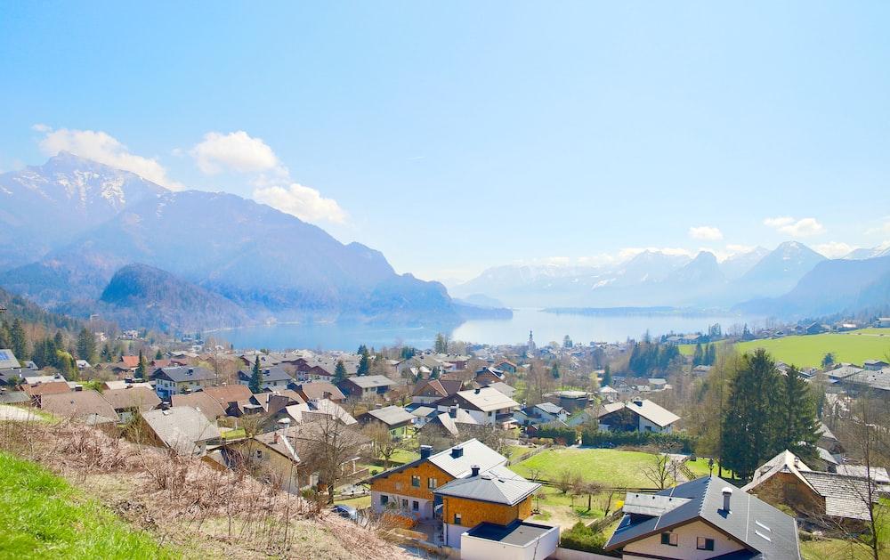 town during daytime