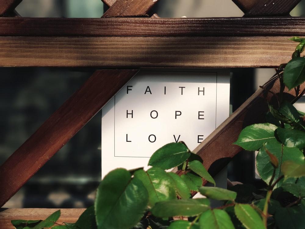 faith hope love text