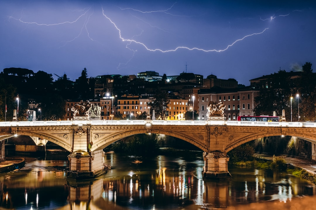 My routine evening stroll through the city was rudely interrupted by some of the worst hail I have ever seen, forcing me to take refuge in a market and enjoy a beer. Once the rain and hail had subsided I was left with one of the most remarkable displays of lightning I have ever witnessed playing out over the Vatican City.