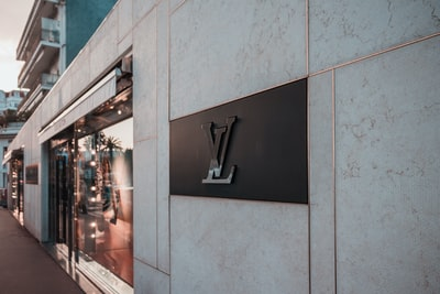louis vuitton signage luxury teams background