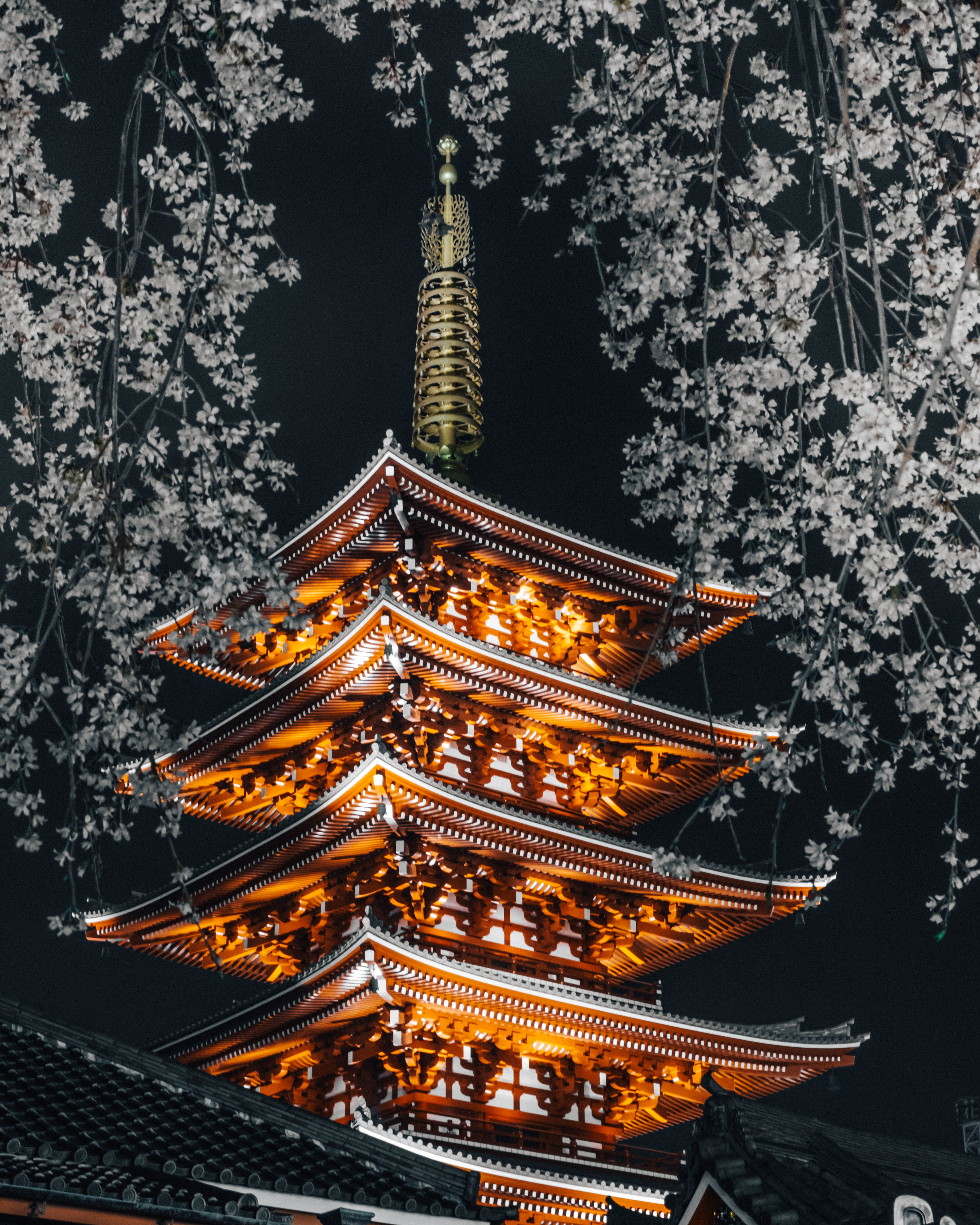 orange pagoda temple