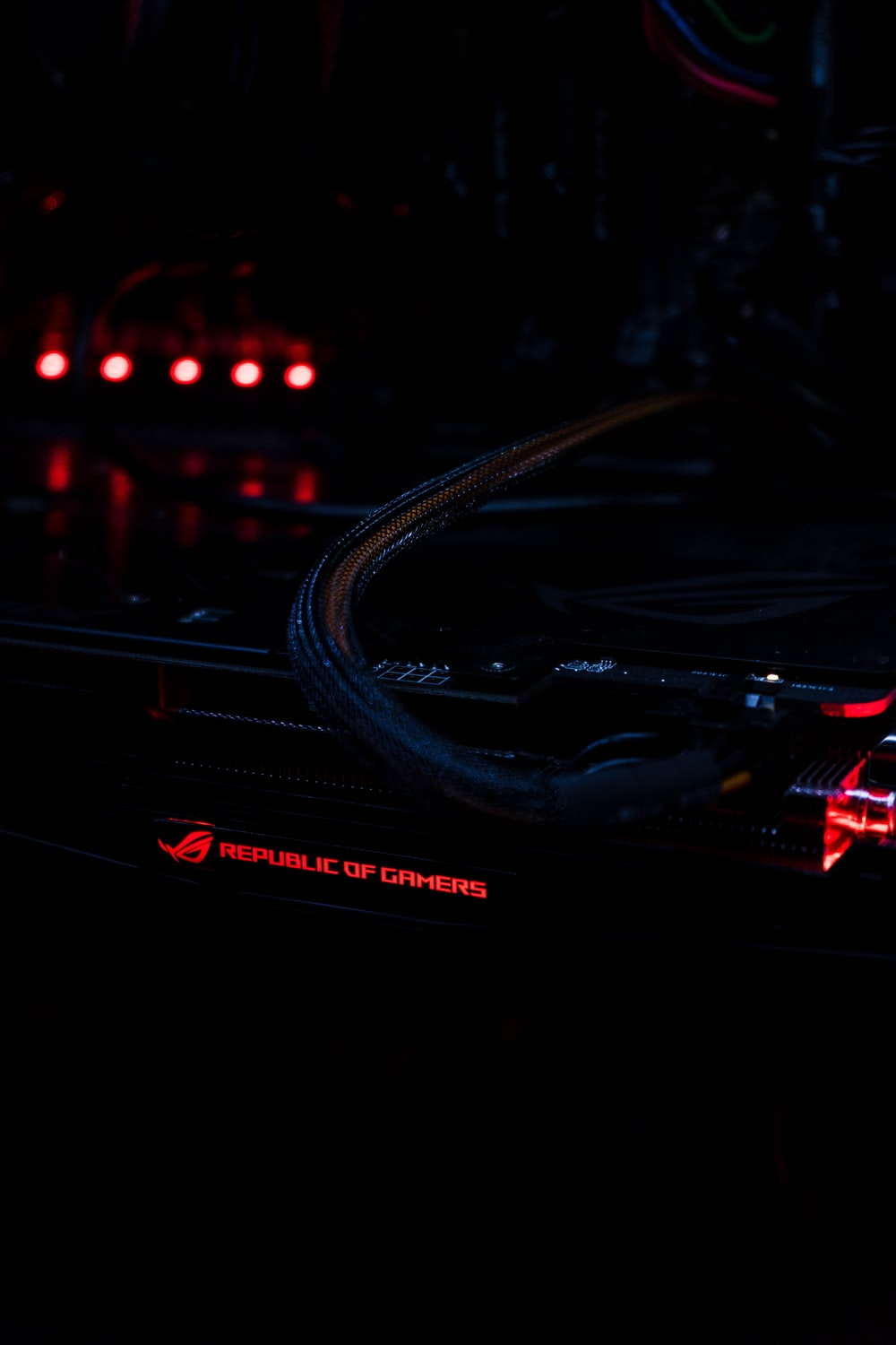 turned-on Republic of Gamers laptop