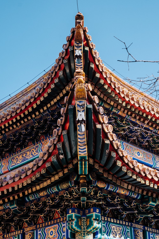 multicolored temple