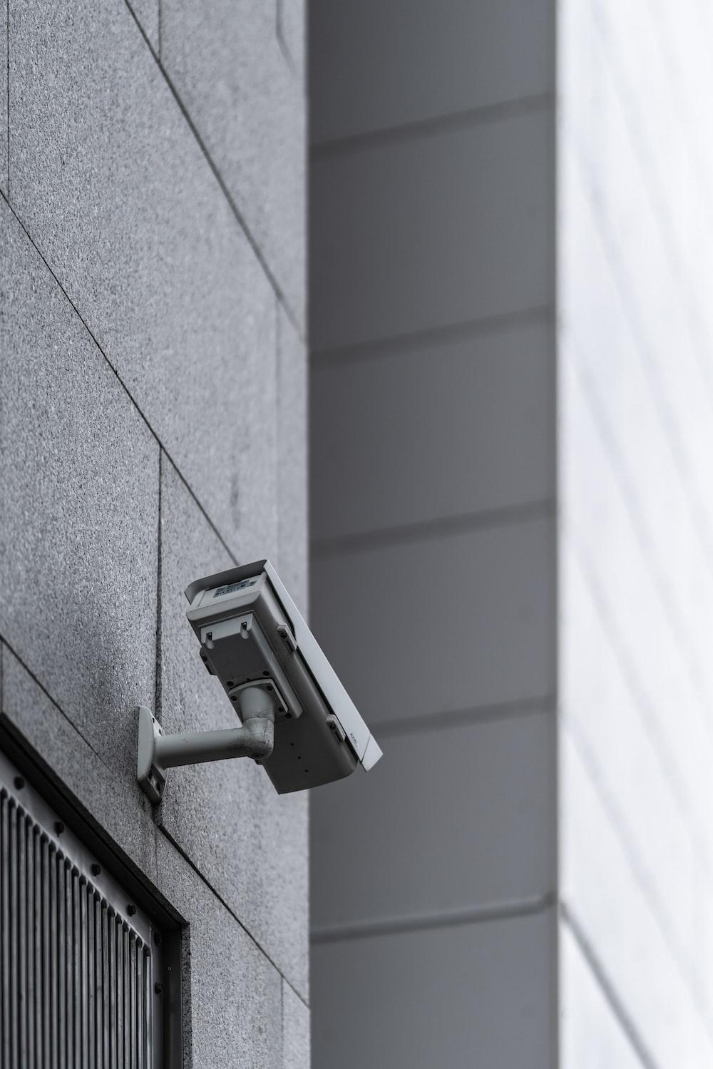 gray surveillance camera