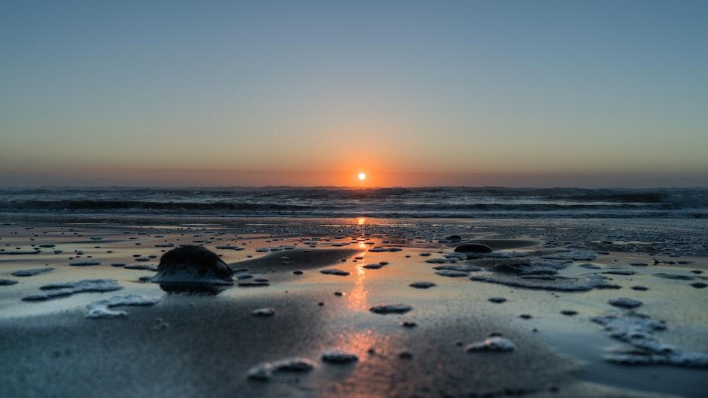 Sunset view across the ocean