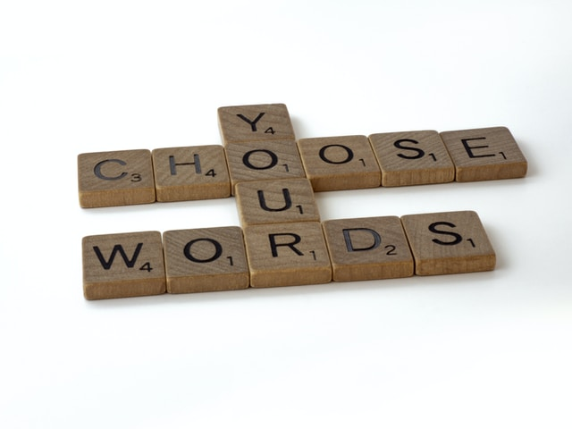 Choose your words tiles