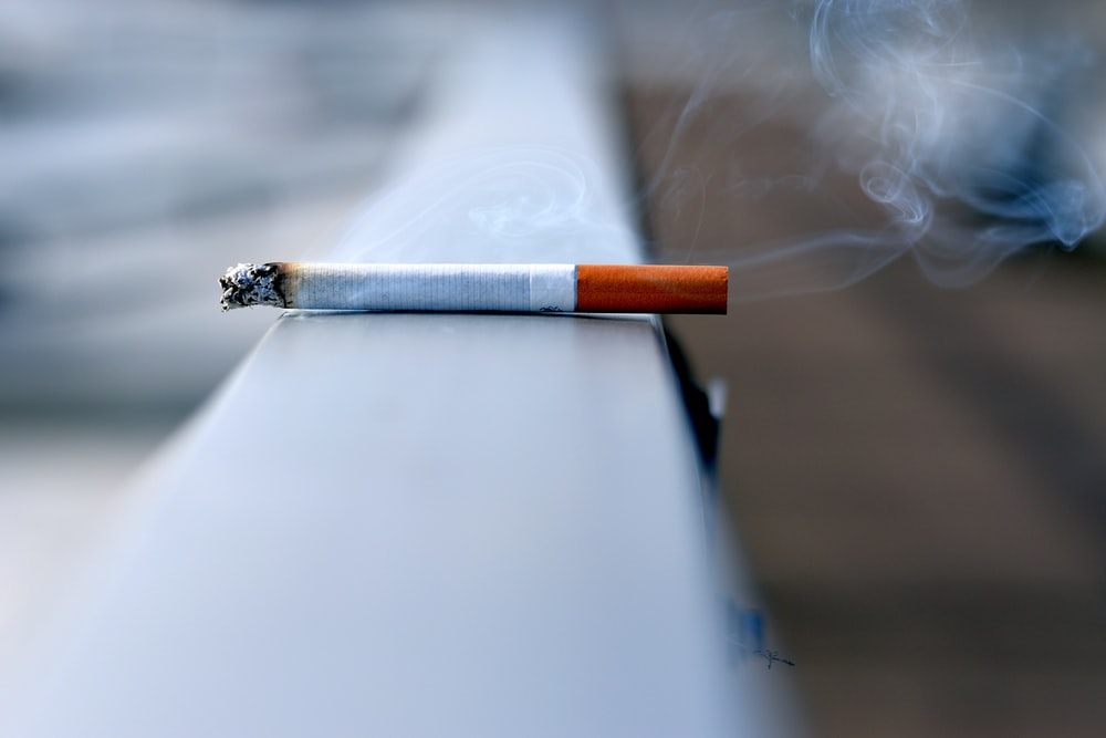 white cigarette stick on white wall