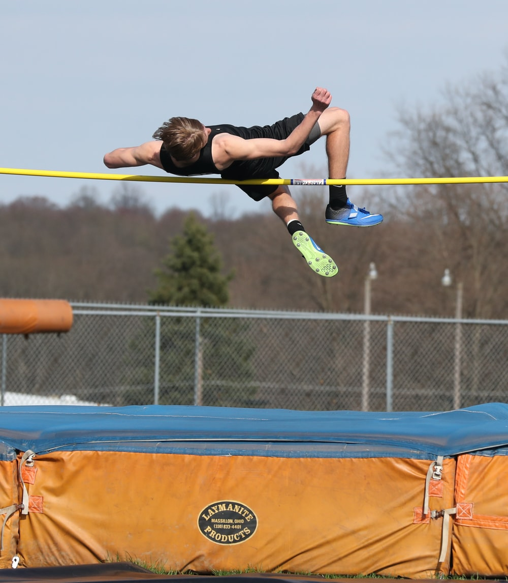 man jumping backswards