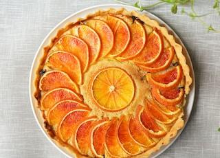 orange pie on plate