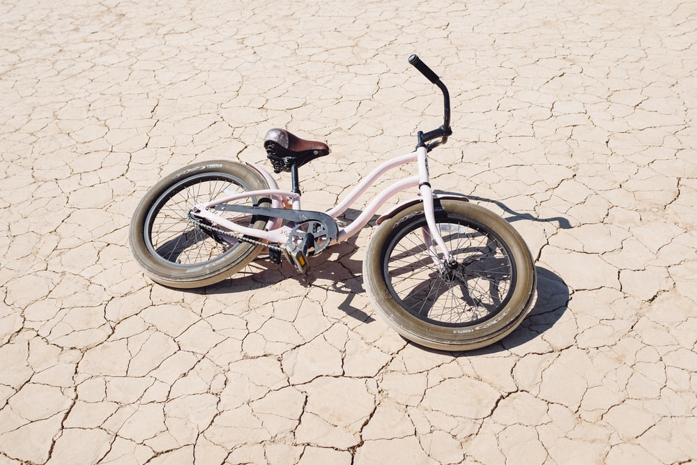 white and brown bicycle