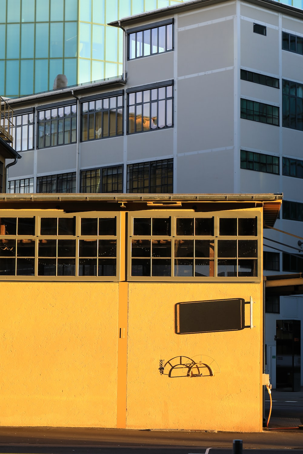 yellow and grey concrete buildings