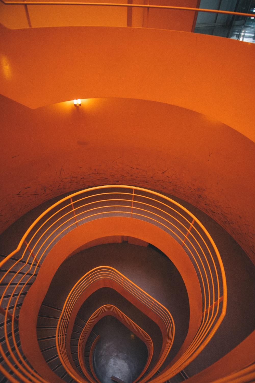 orange staircase