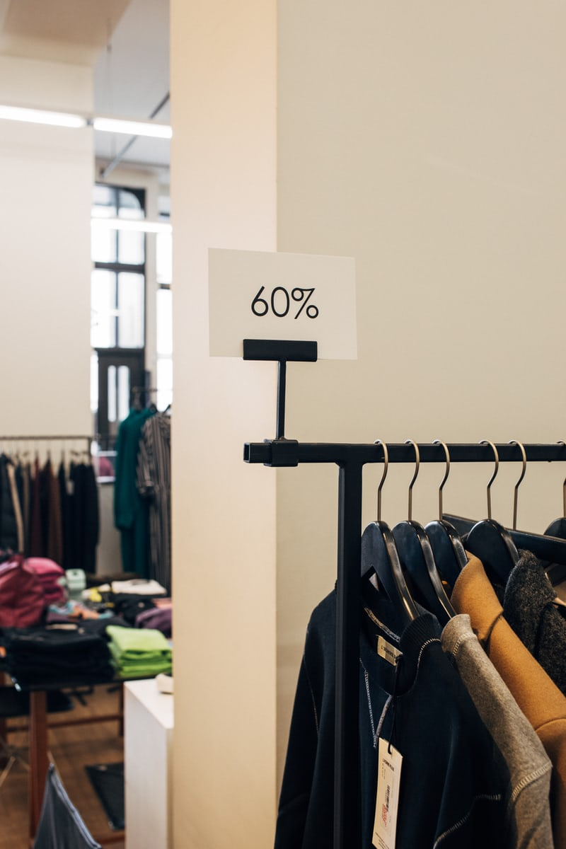 discount when buying clothes