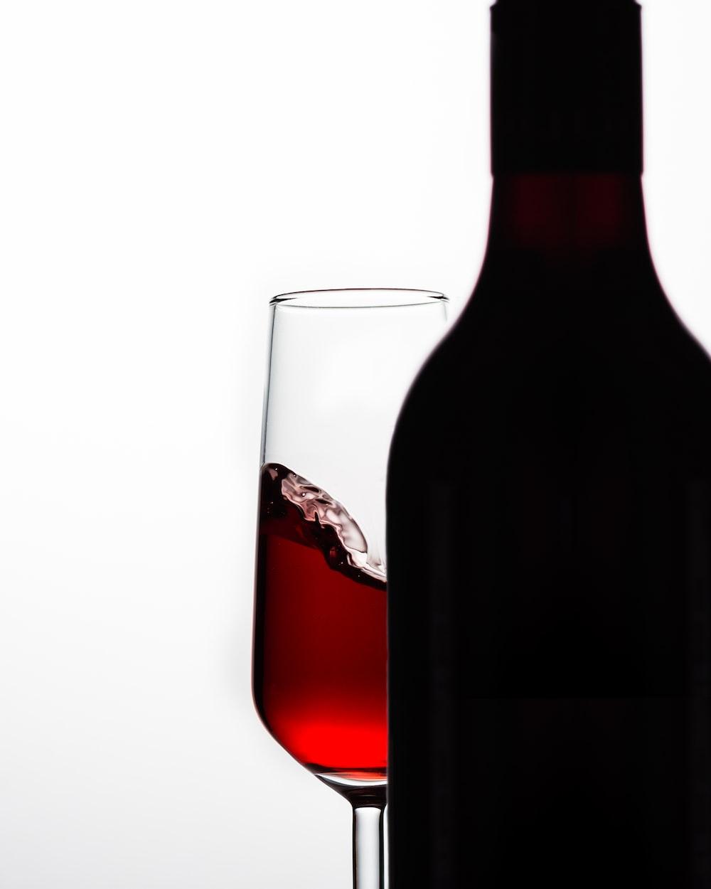 black wine bottle