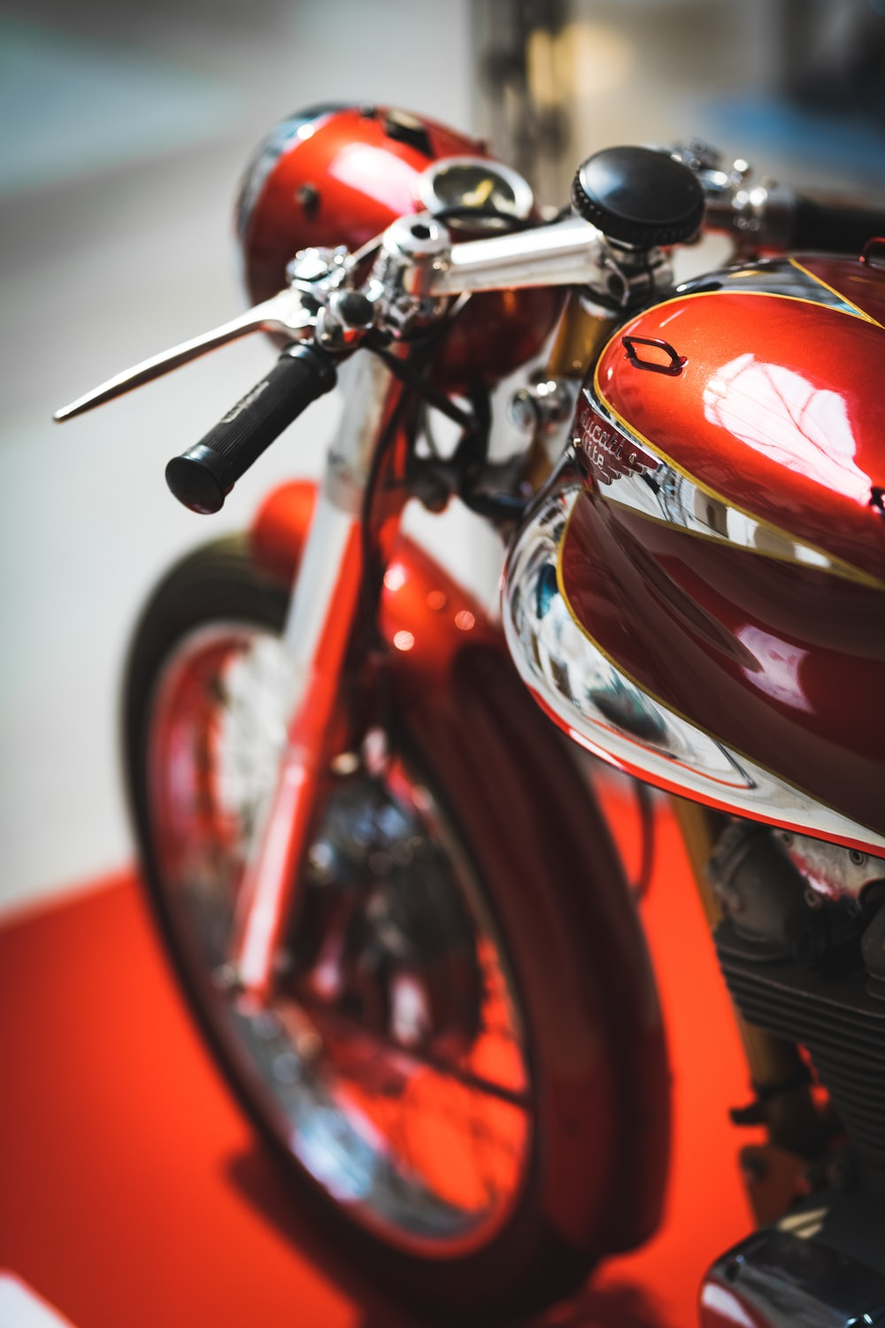 motorcycle on red carpet