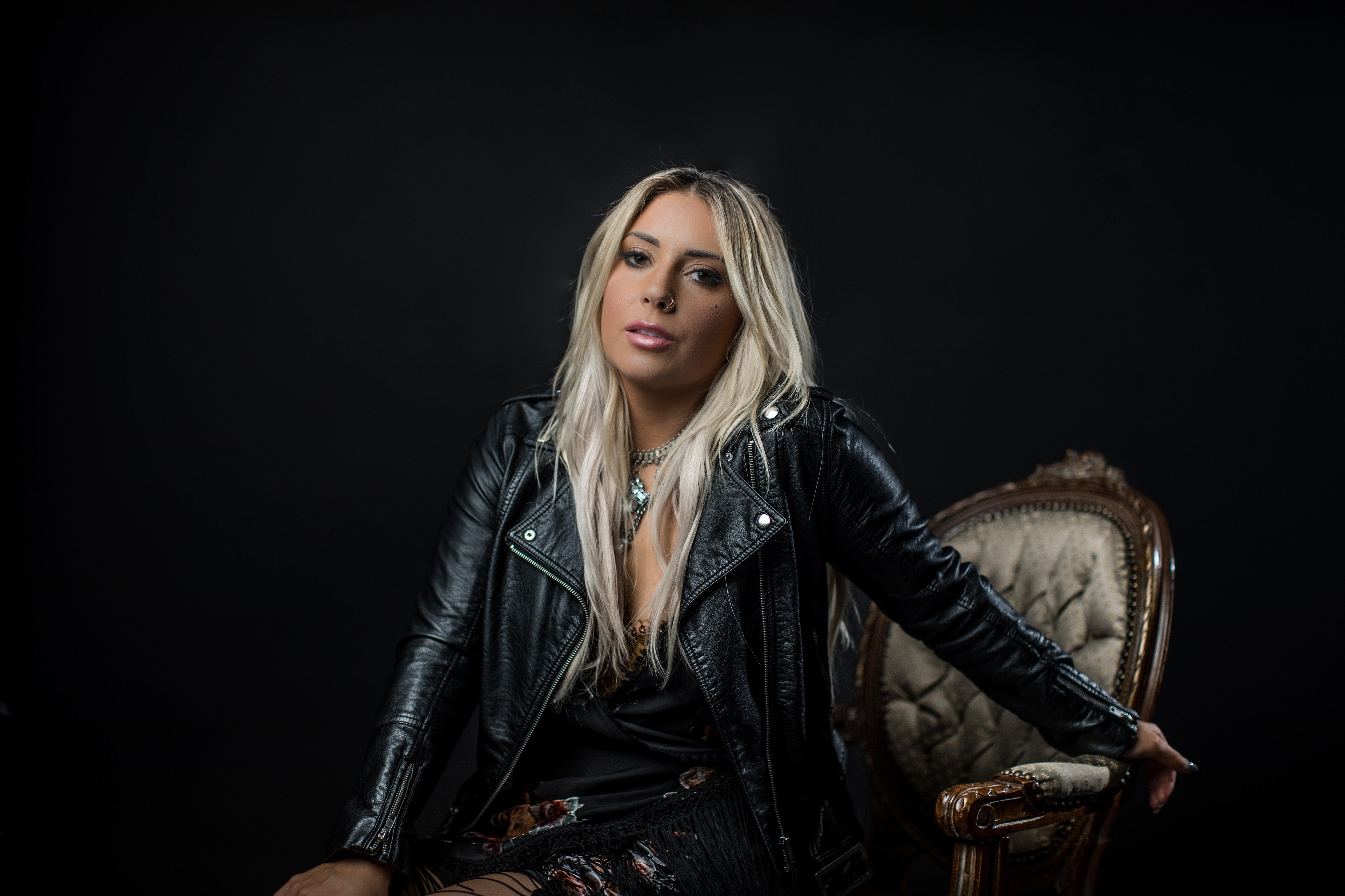 unknown celebrity wearing black motorcycle jacket