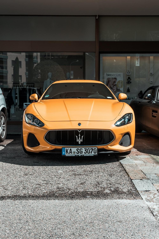 orange Maserati car