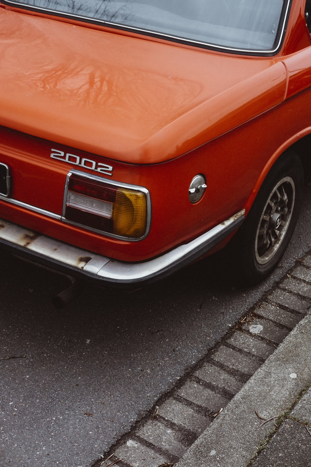 red 2002 vehicle bumper