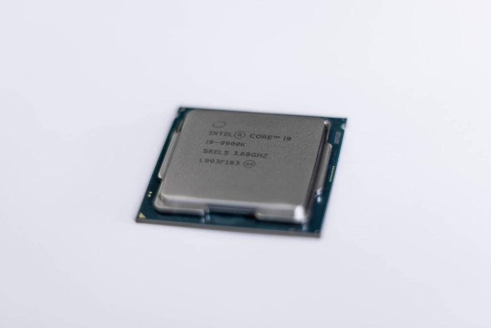 Intel Core CPU on white panel
