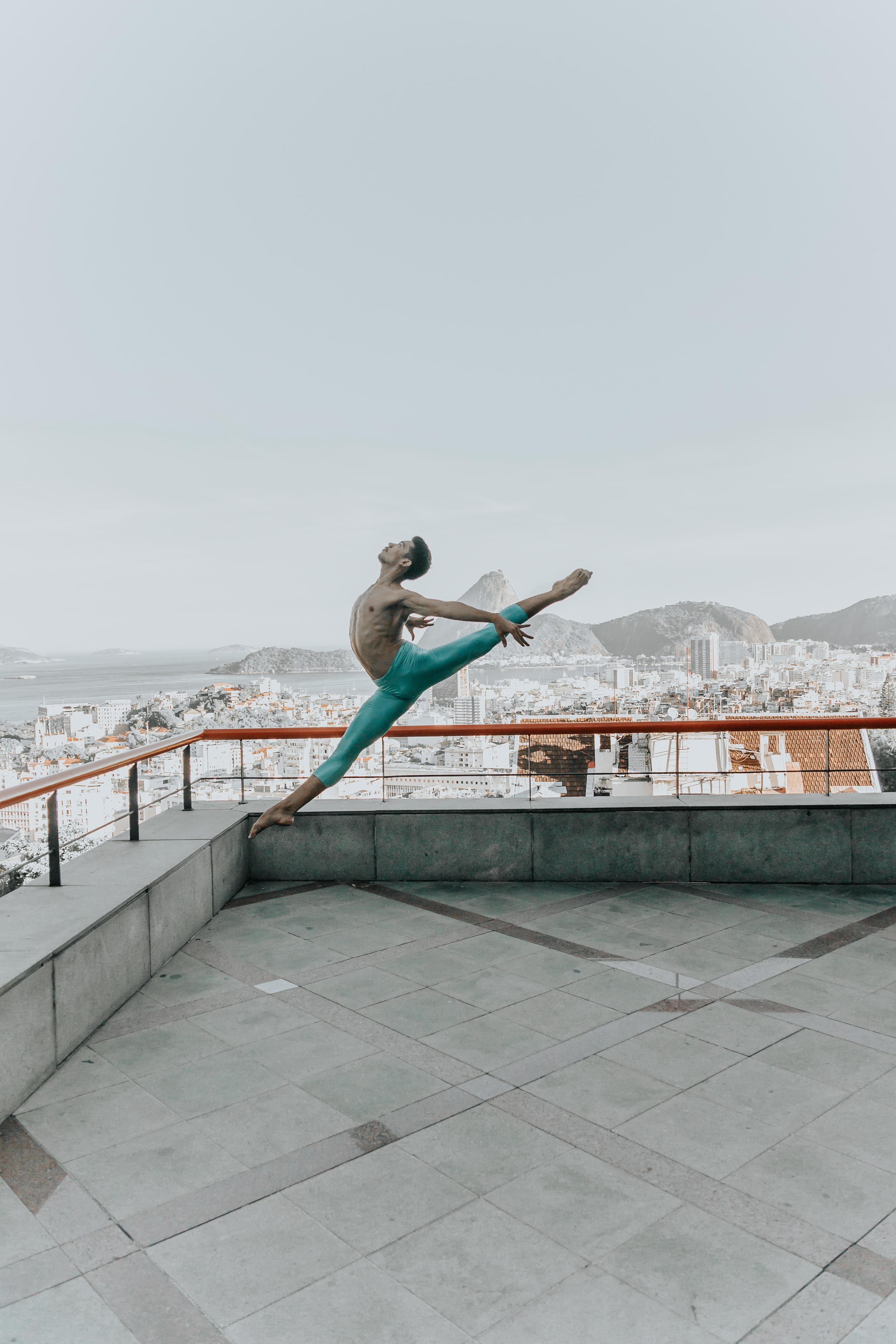 man stretching its body