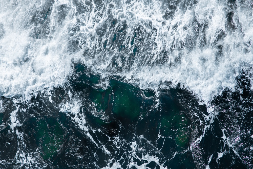 aerial view photography of waves