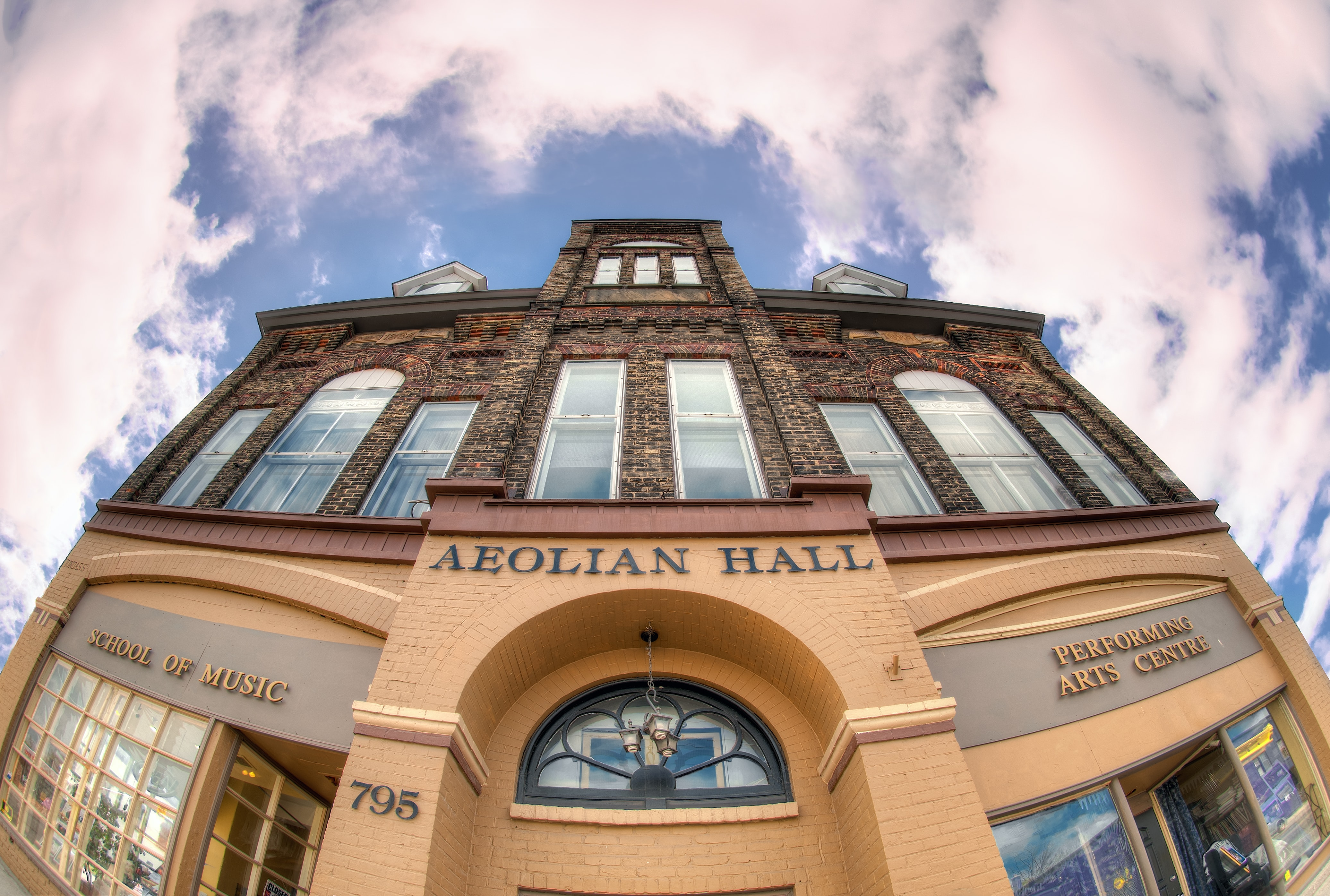 brown Aeolian Hall building