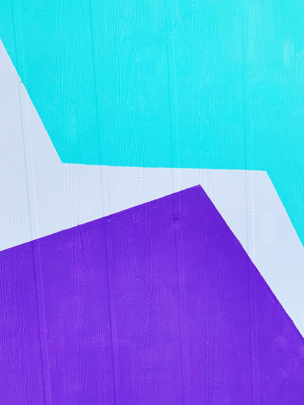 teal, white, and purple paint