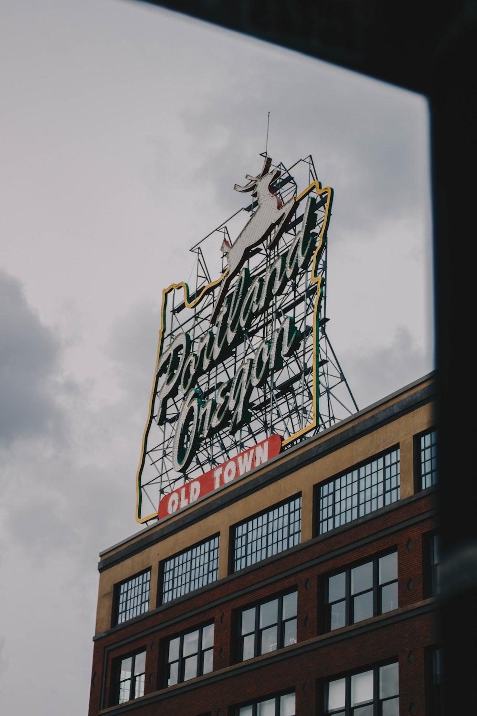 Portland Oregon Old Town signage
