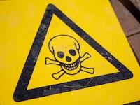 """""""Danger sign with skull"""""""