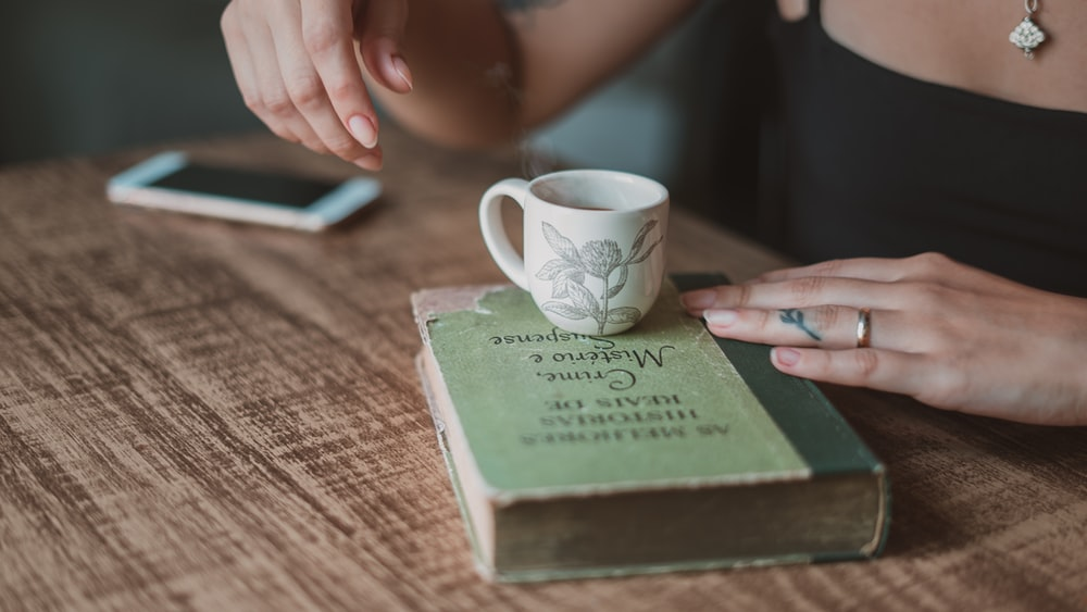 teacup on book