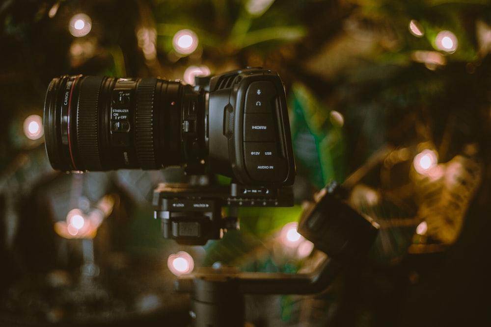 selective focus photo of DSLR camera