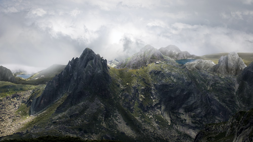 mountain range under humid weather