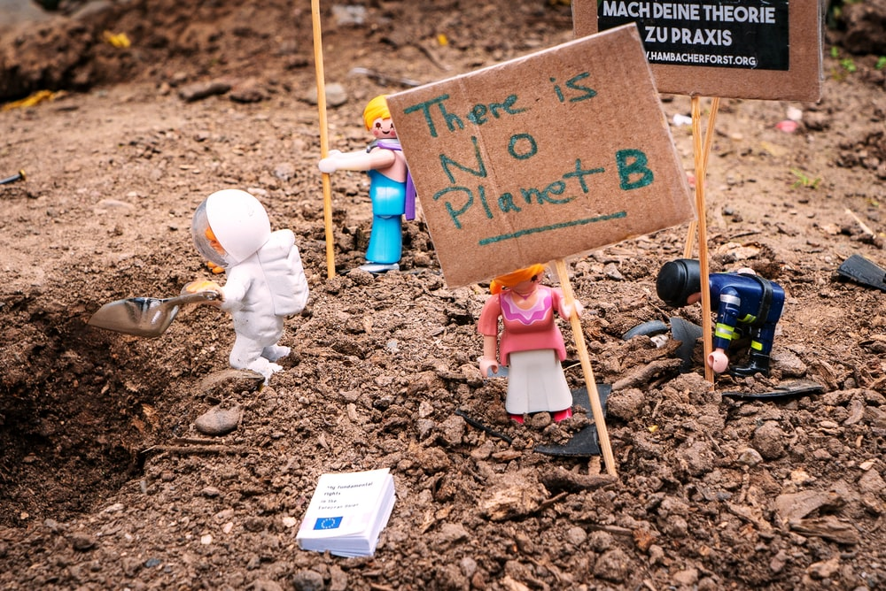 there is not planet b signage