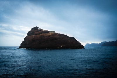 islet view on calm sea cabo verde zoom background