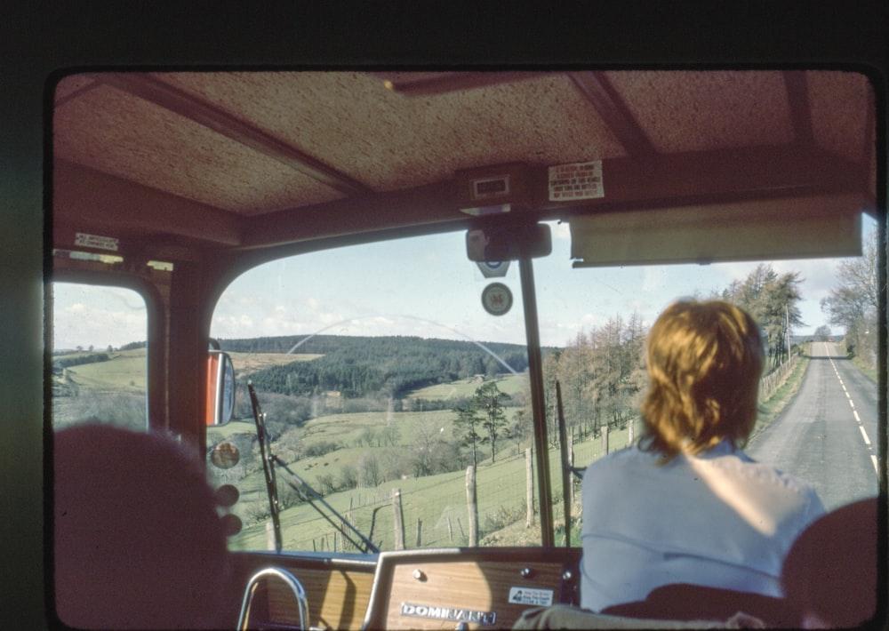 man driving bus