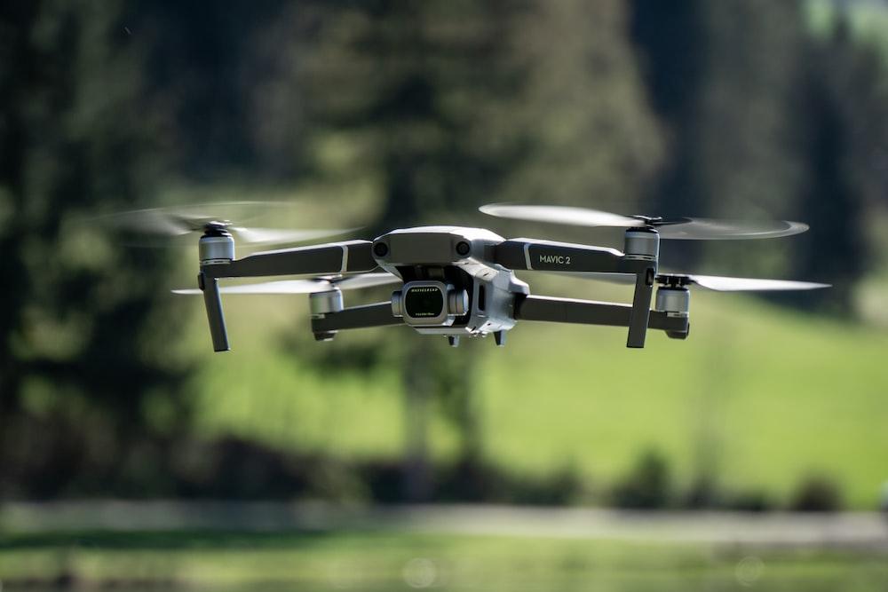 selective focus photo of quadcopter