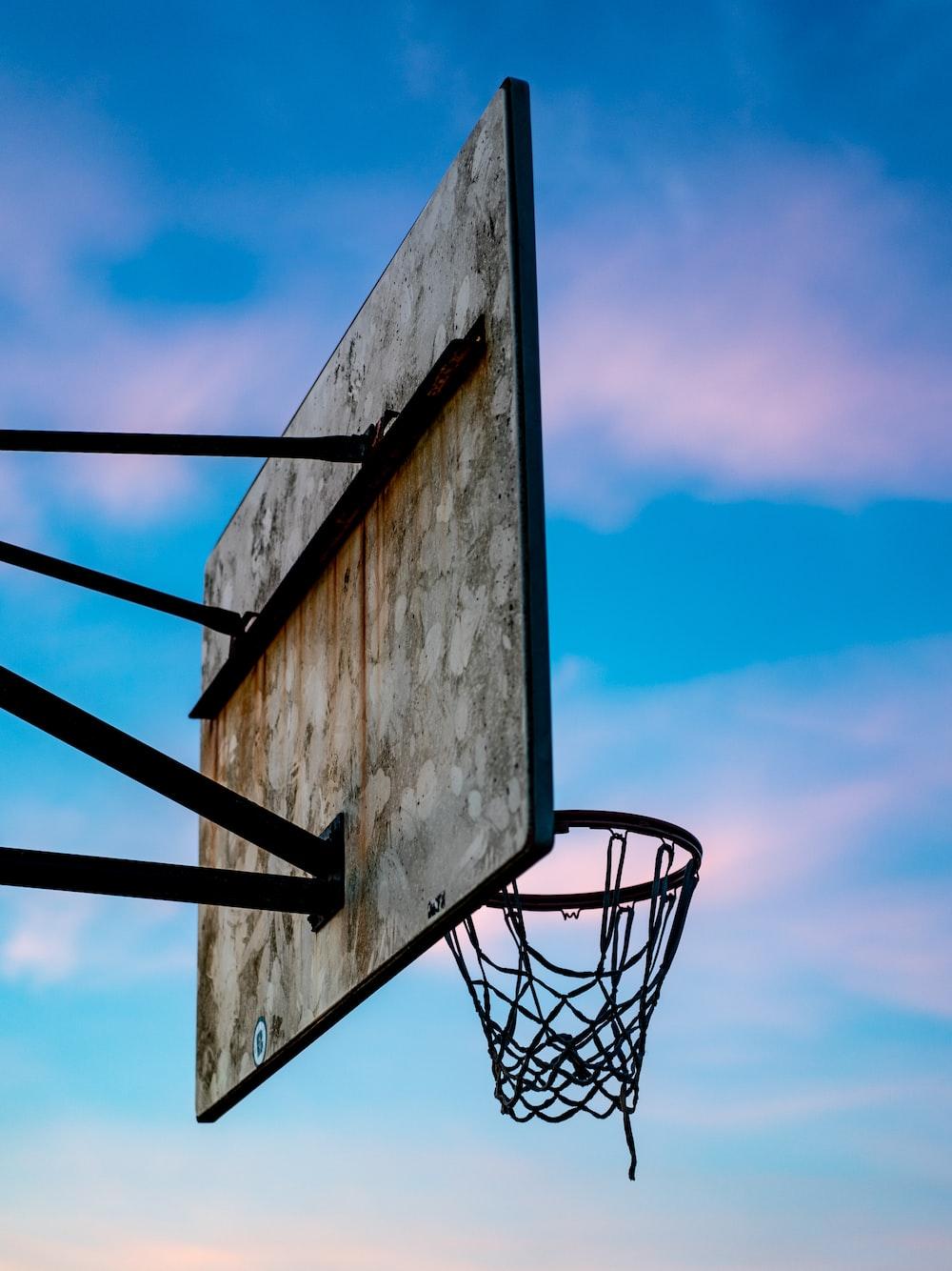 gray basketball hoop