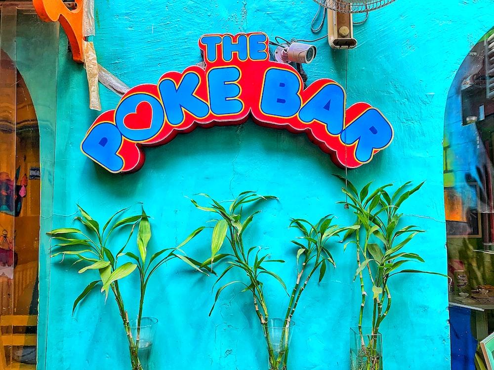 The Poke Bar sign